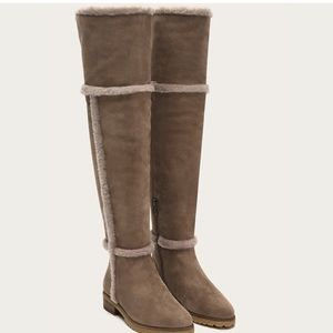Frye Tamara Shearling Boots Taupe, 6